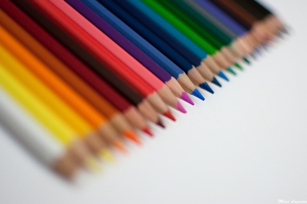des crayons des idées de la vie